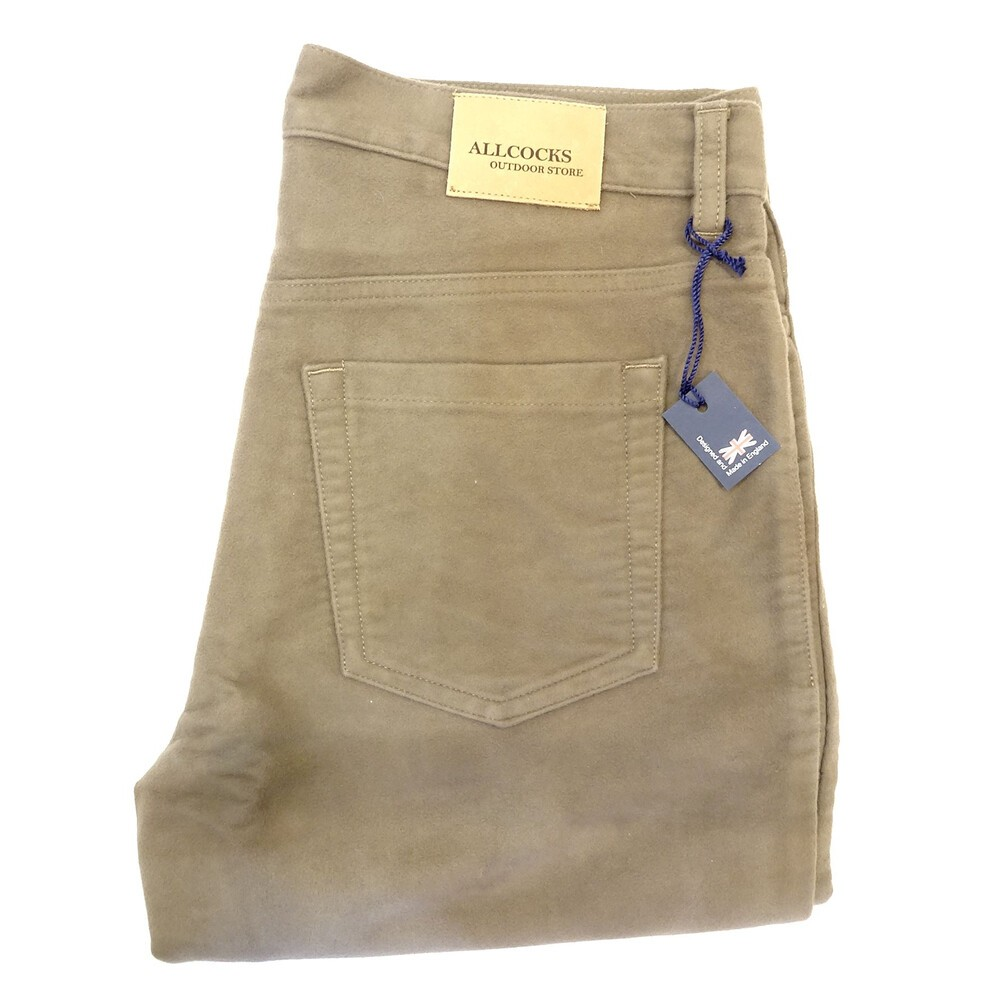 Allcocks Allcocks Stonecutter Moleskin Trousers - Long in Urban Stone
