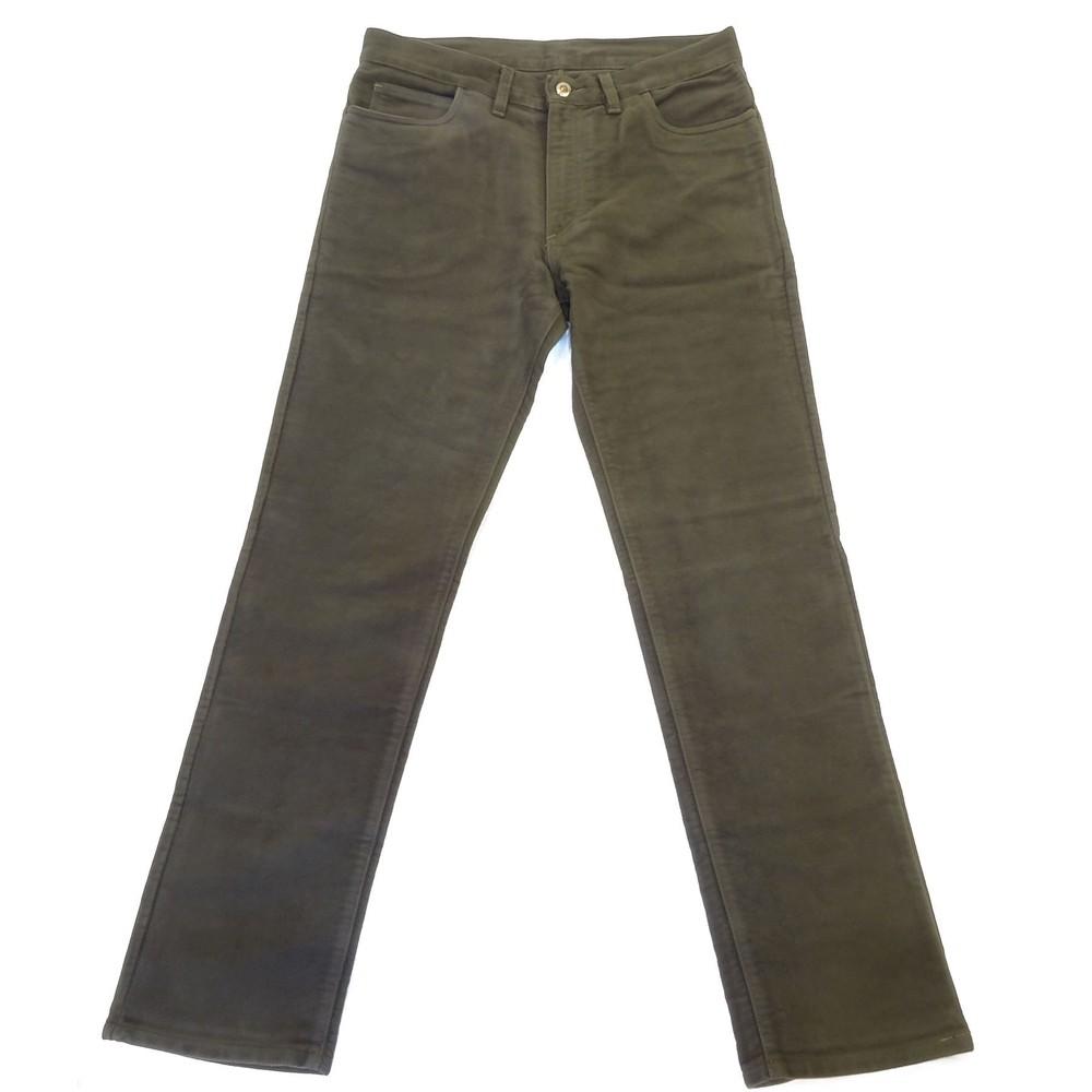 Allcocks Stonecutter Moleskin Trousers - Long Olive