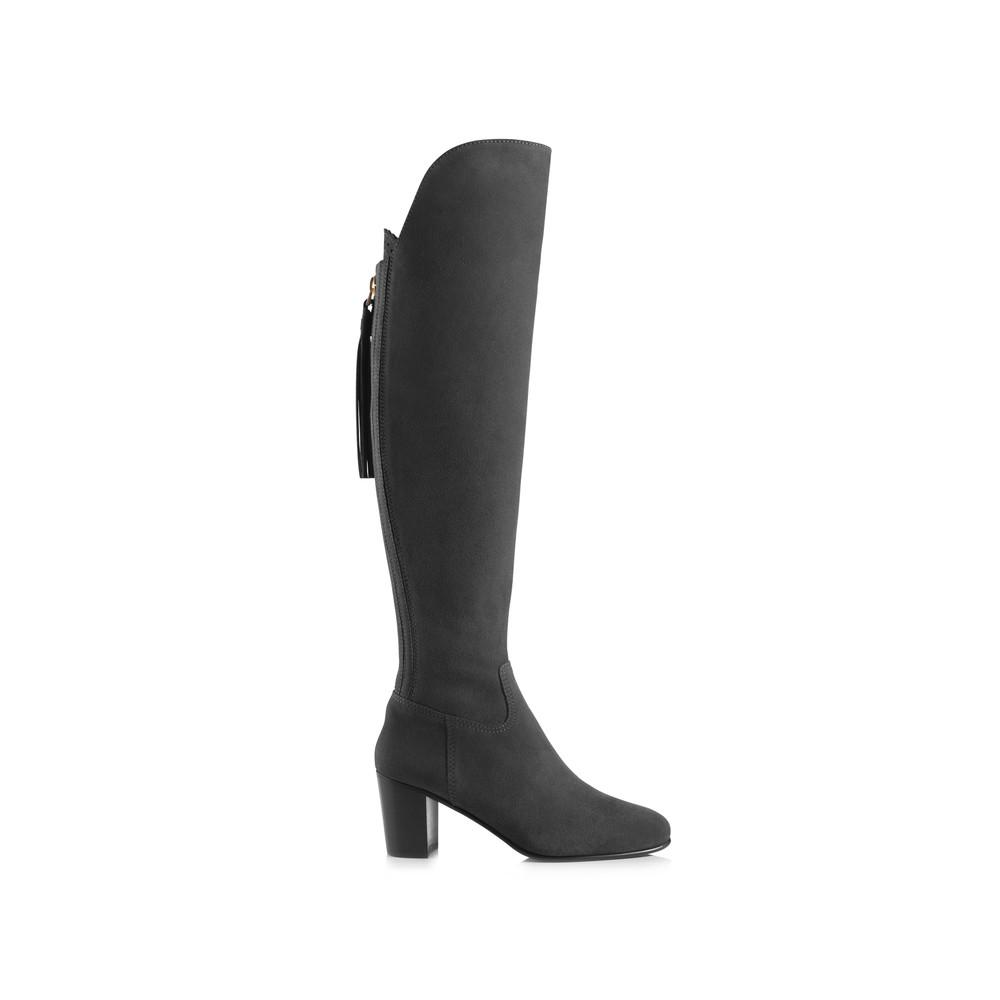 Fairfax & Favor Heeled Amira Boot Grey