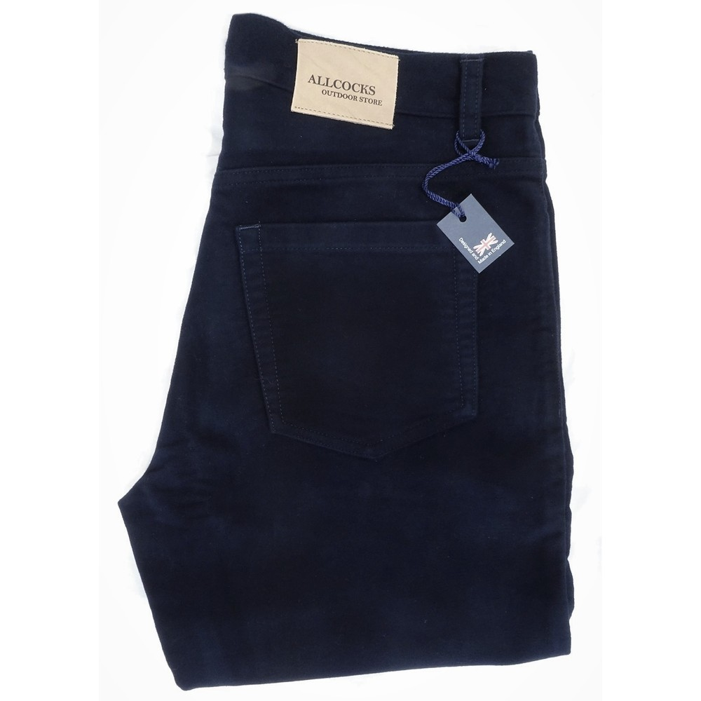 Allcocks Stonecutter Moleskin Trousers - Short Midnight