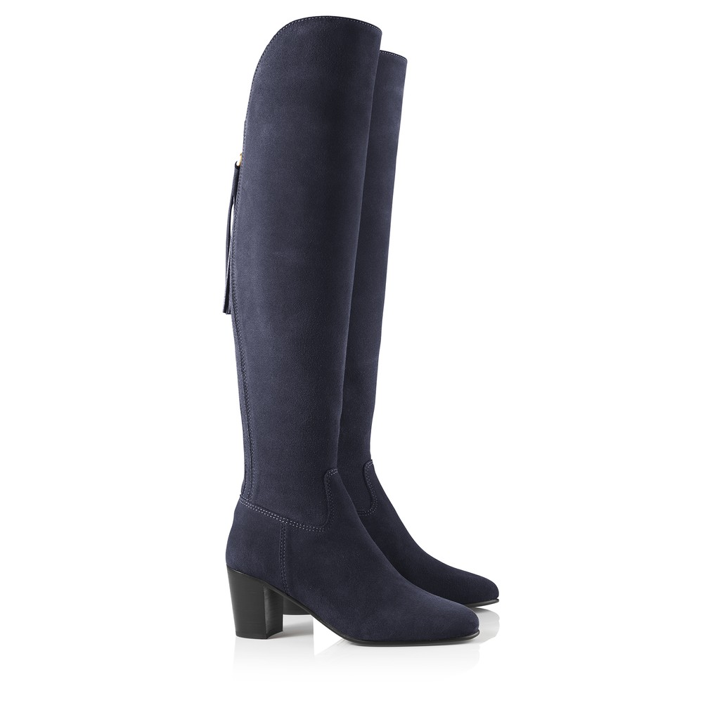 Fairfax & Favor Fairfax & Favor Heeled Amira Boot - Navy