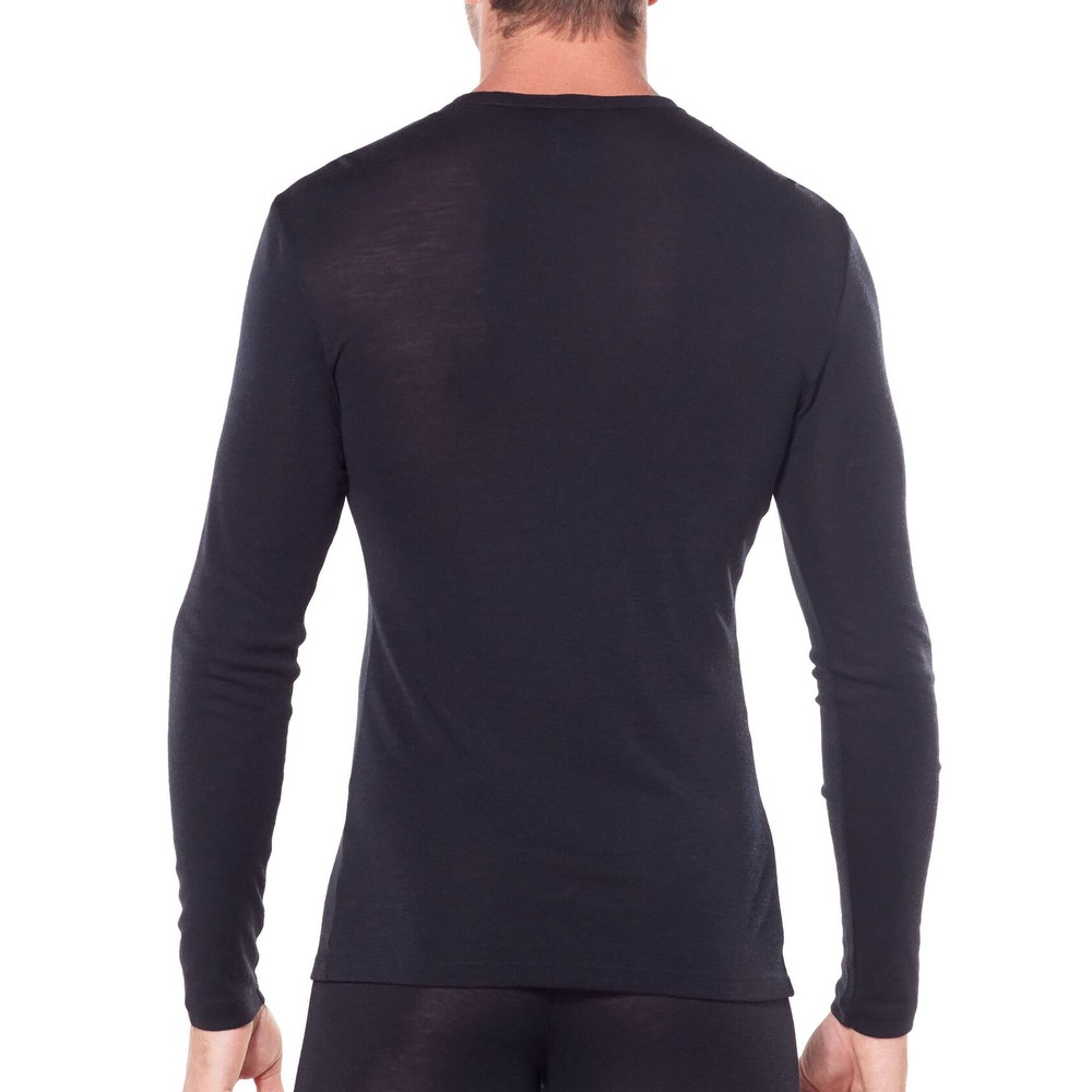 Icebreaker 175 Everyday Long Sleeve Crew Neck Mens Top - Black Black