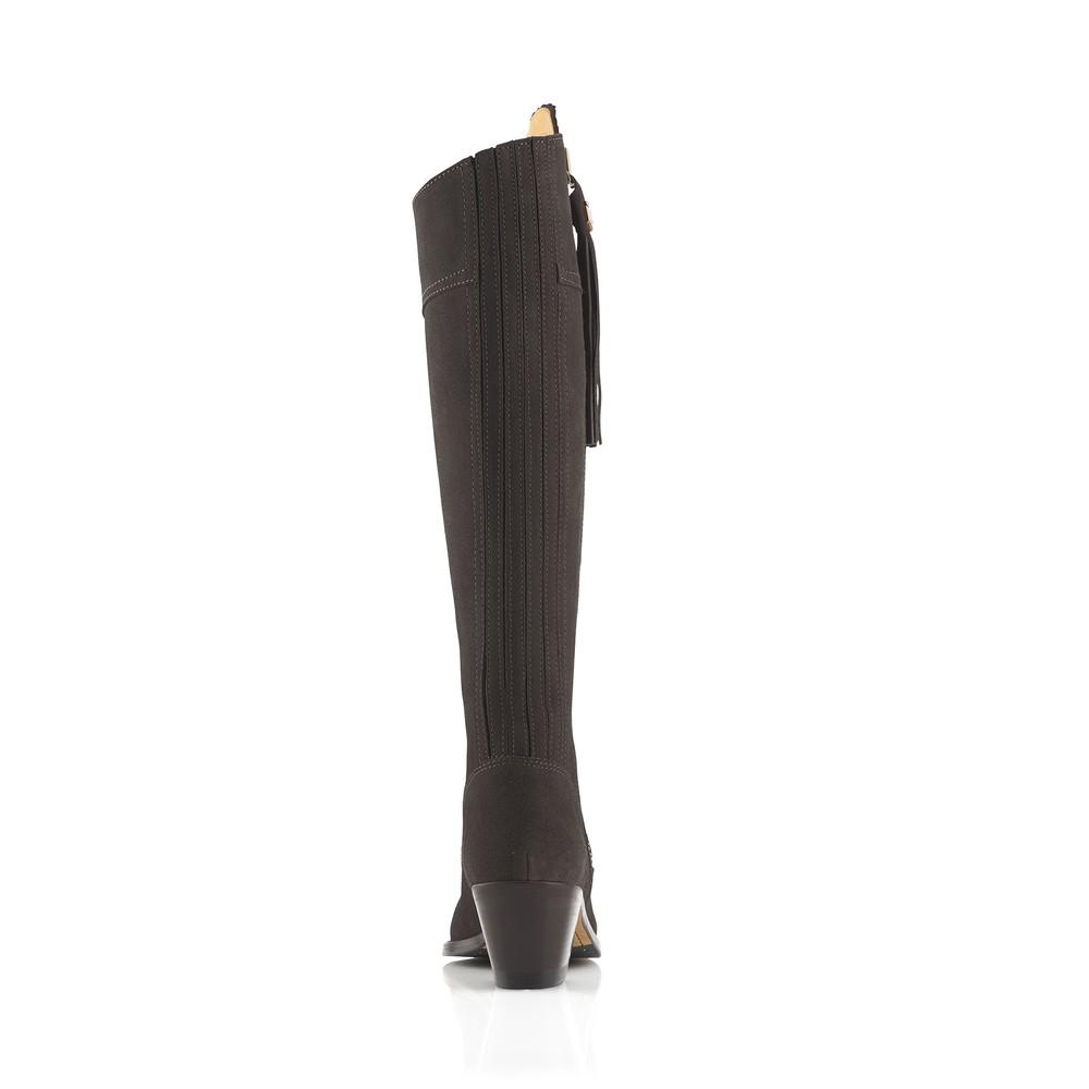Fairfax & Favor Heeled Regina Boot - Chocolate Chocolate