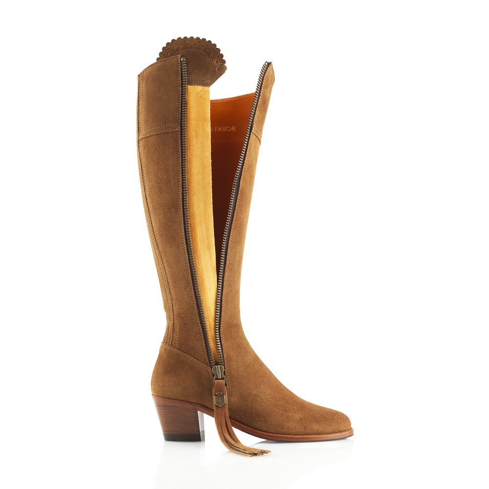 Fairfax & Favor Heeled Regina Boot - Tan Tan