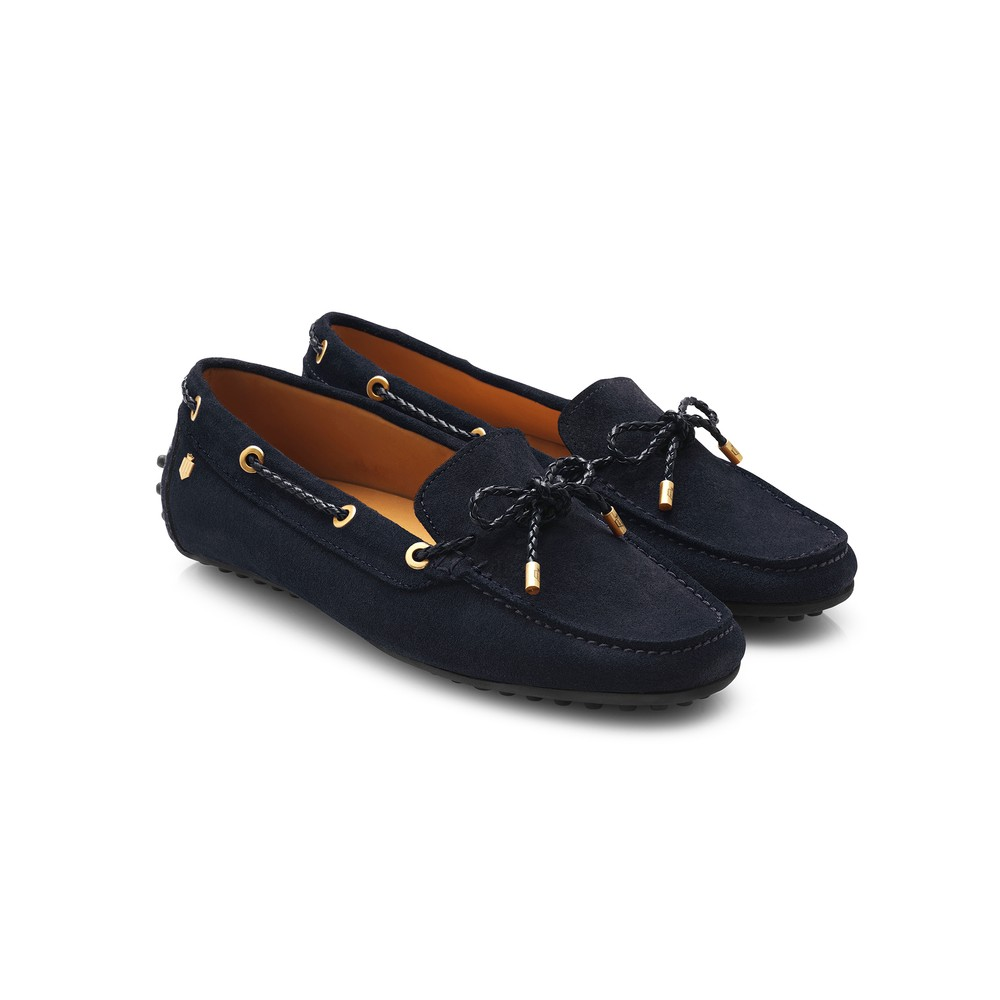 Fairfax & Favor Henley Drivers Shoe - Navy