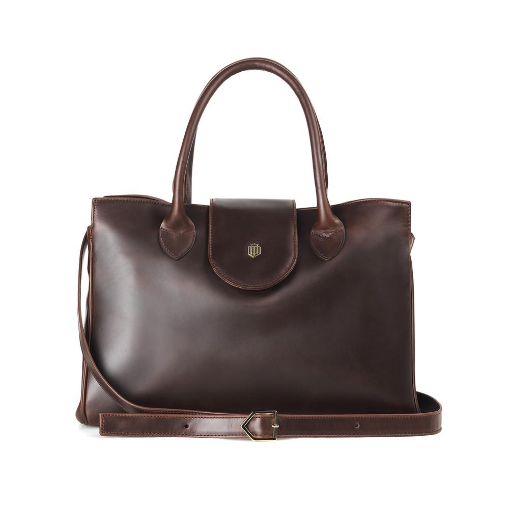 Fairfax & Favor Langley Handbag - Mahogany Brown