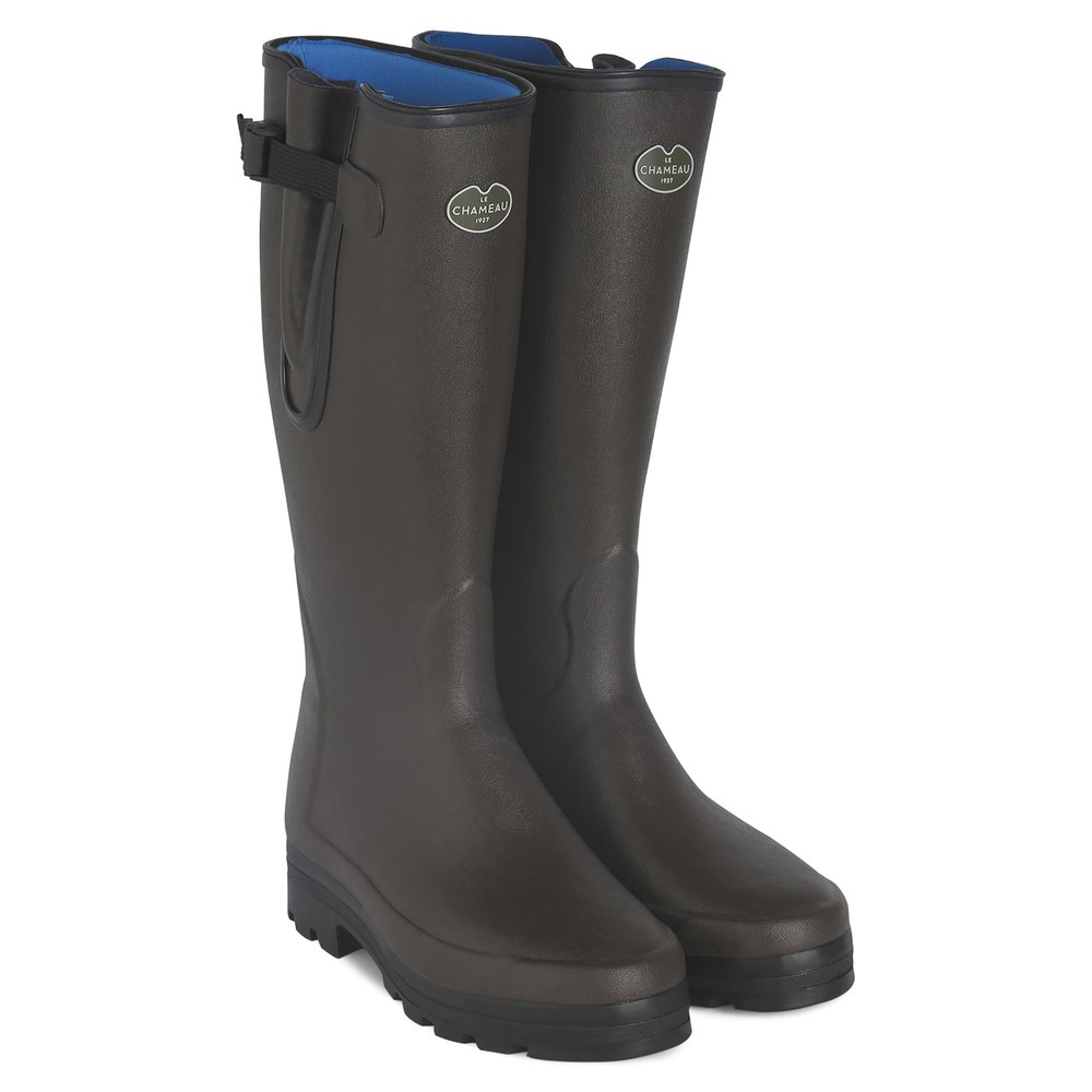 Le Chameau Vierzonord Neoprene Lined Wellington Boots - Brown Brown