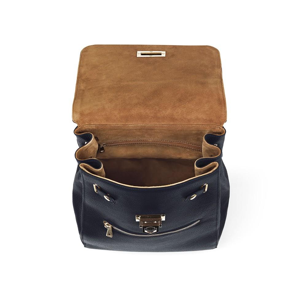 Fairfax & Favor Loxley Backpack - Tan & Navy Tan Navy