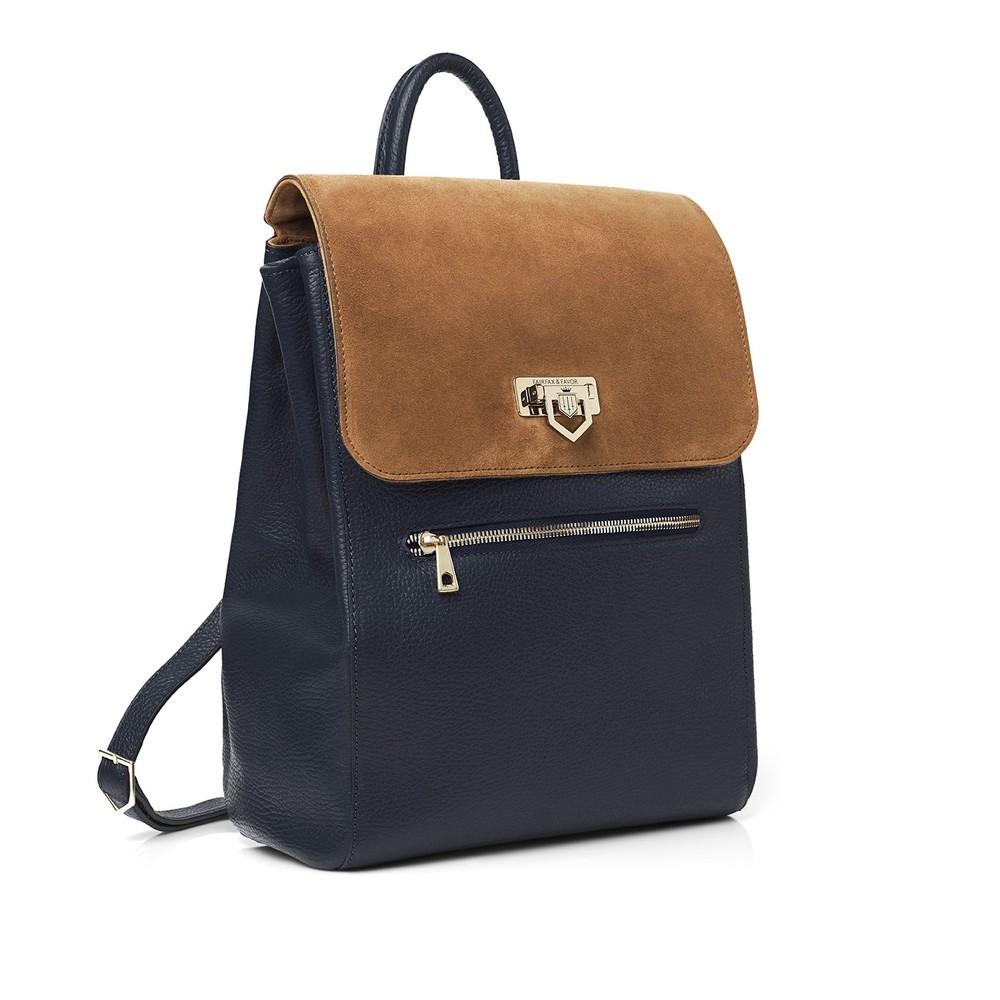 Fairfax & Favor Fairfax & Favor Loxley Backpack - Tan & Navy