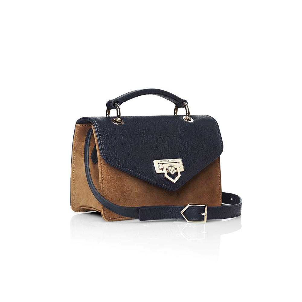 Fairfax & Favor Fairfax & Favor Loxley Mini Crossbody Bag - Tan & Navy