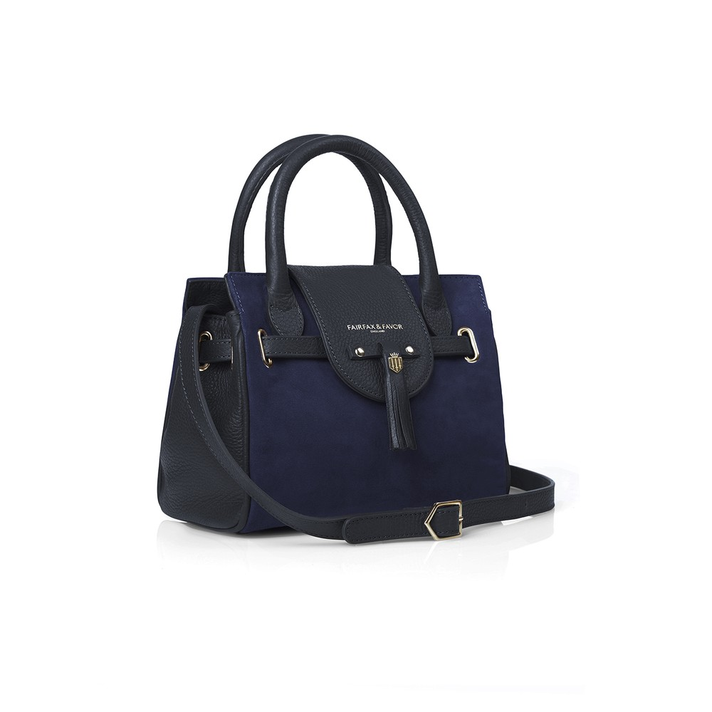 Fairfax & Favor Fairfax & Favor Mini Windsor Handbag - Navy