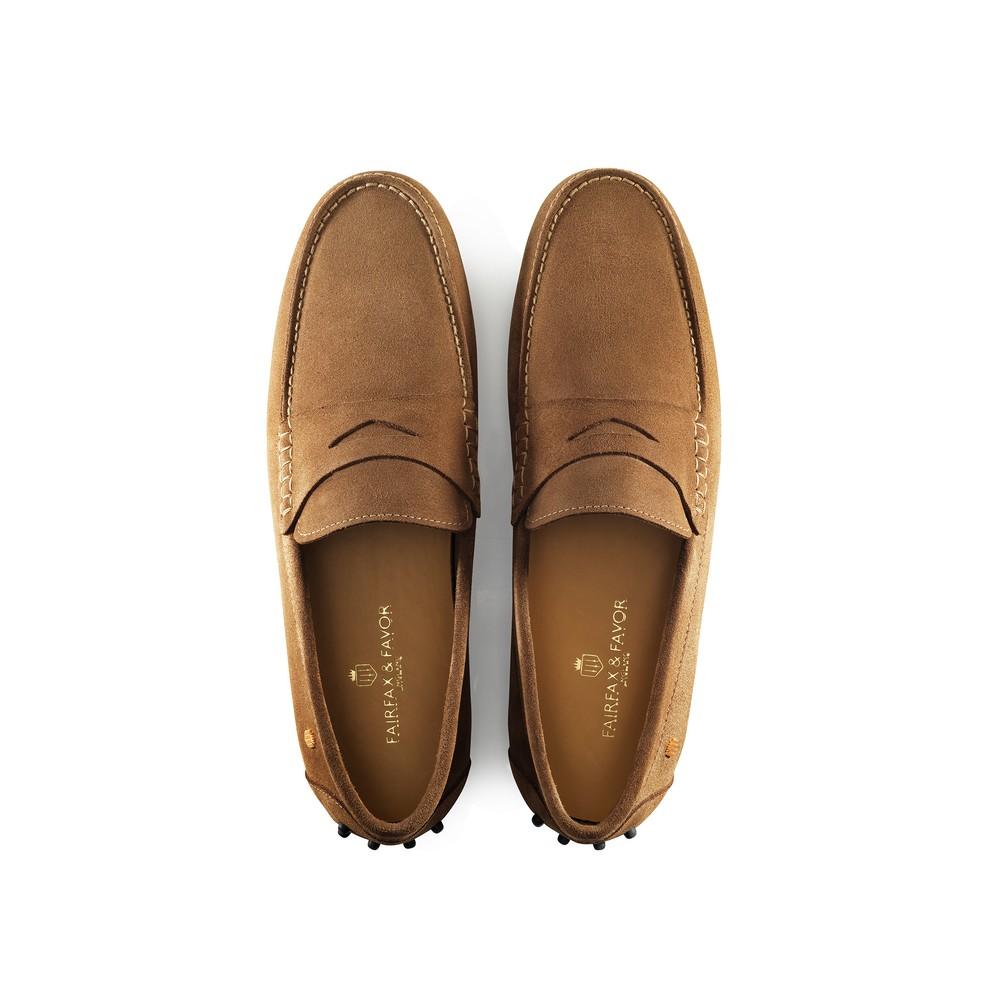 Fairfax & Favor Monte Carlo Driver Shoe -Tan Tan