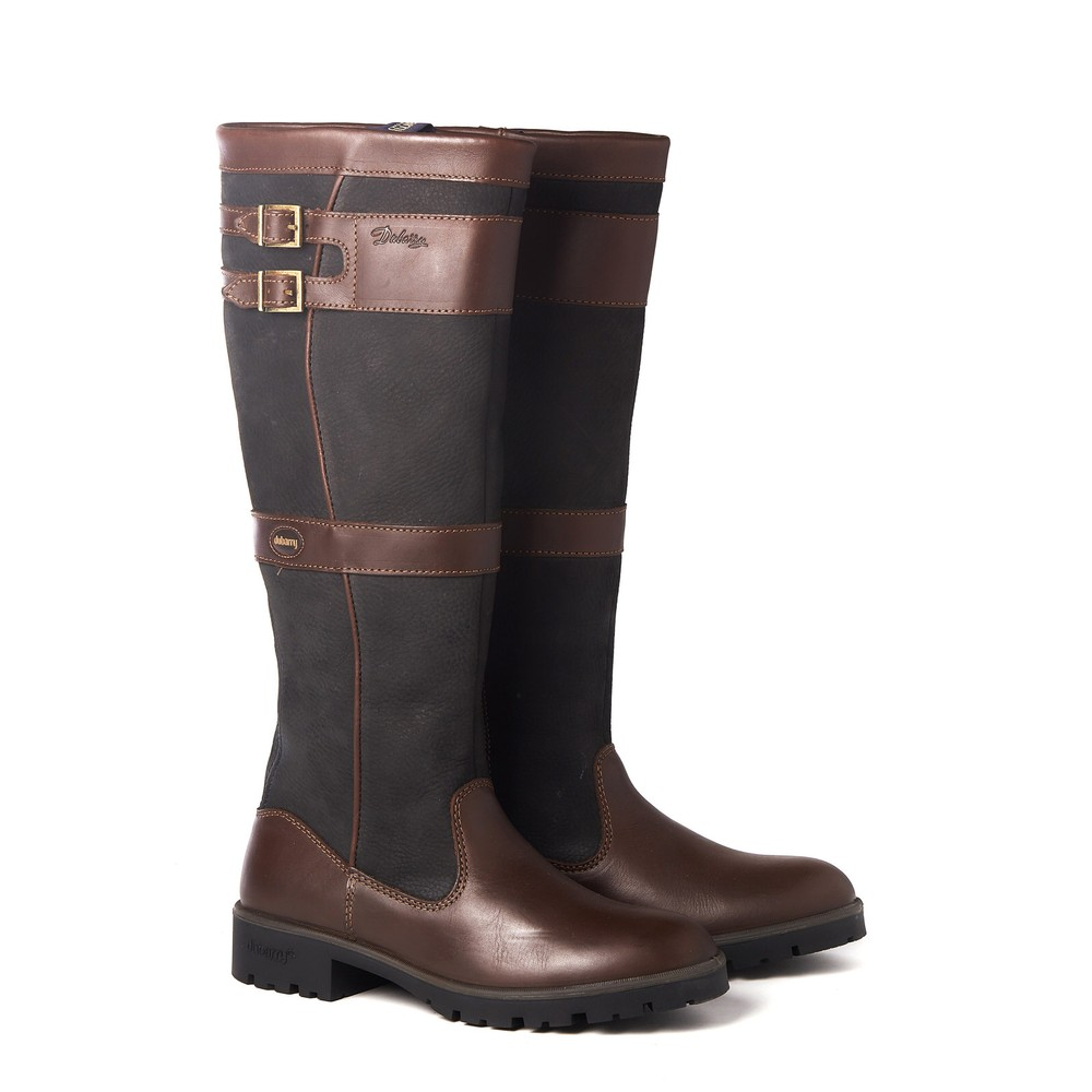 Dubarry Longford Knee-High Boot - Black/Brown Black/Brown