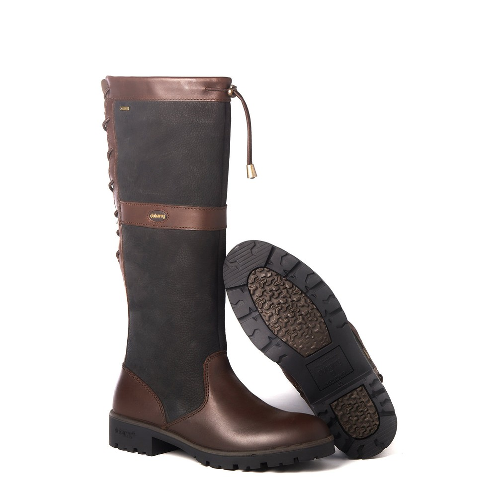 Dubarry Glanmire Country Boot - Black/Brown - UK x EU x Black/Brown