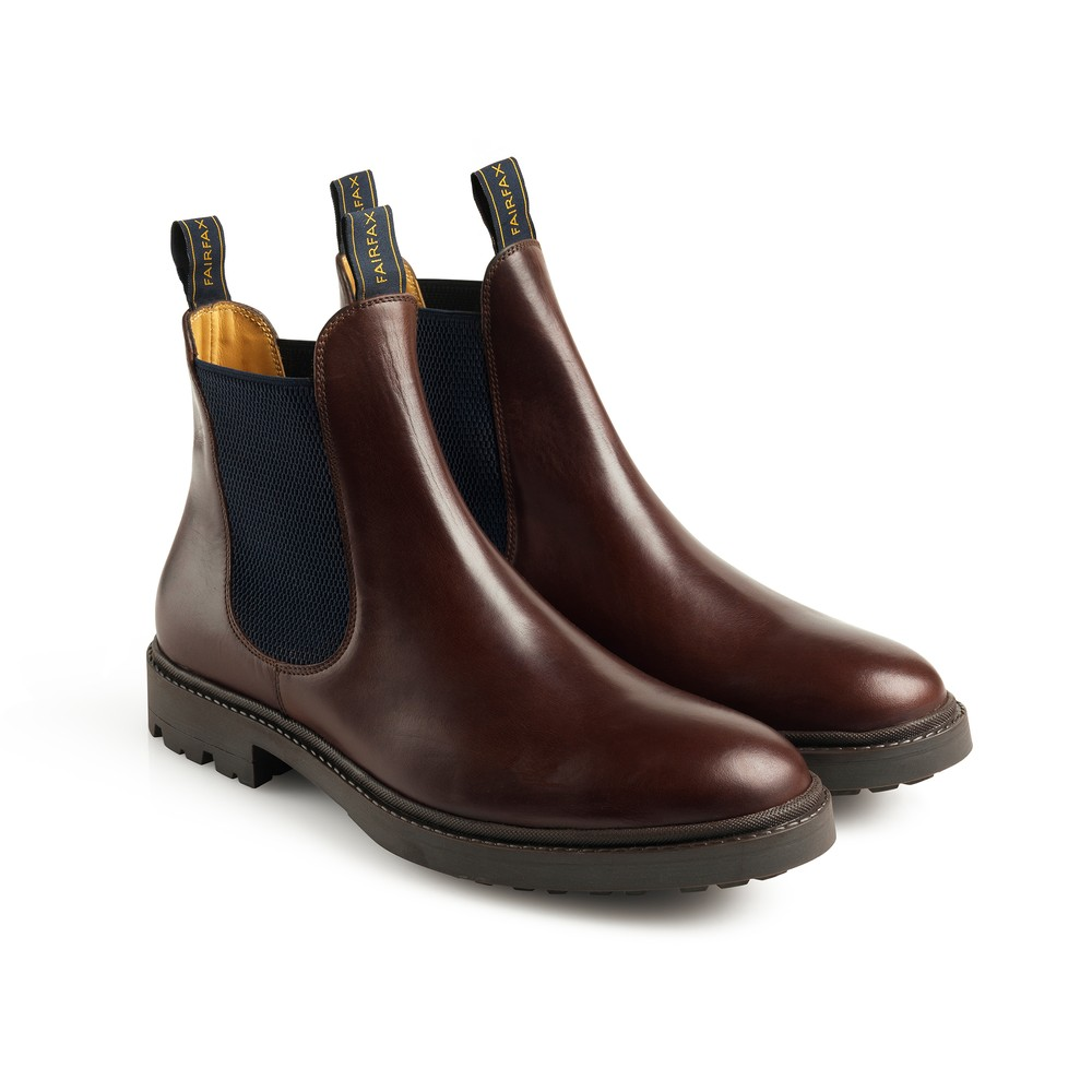 Fairfax & Favor Trafalgar Leather Boot - Mahogany