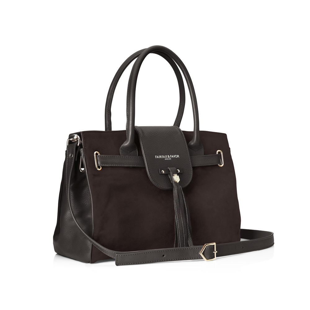 Fairfax & Favor Fairfax & Favor Windsor Handbag - Chocolate