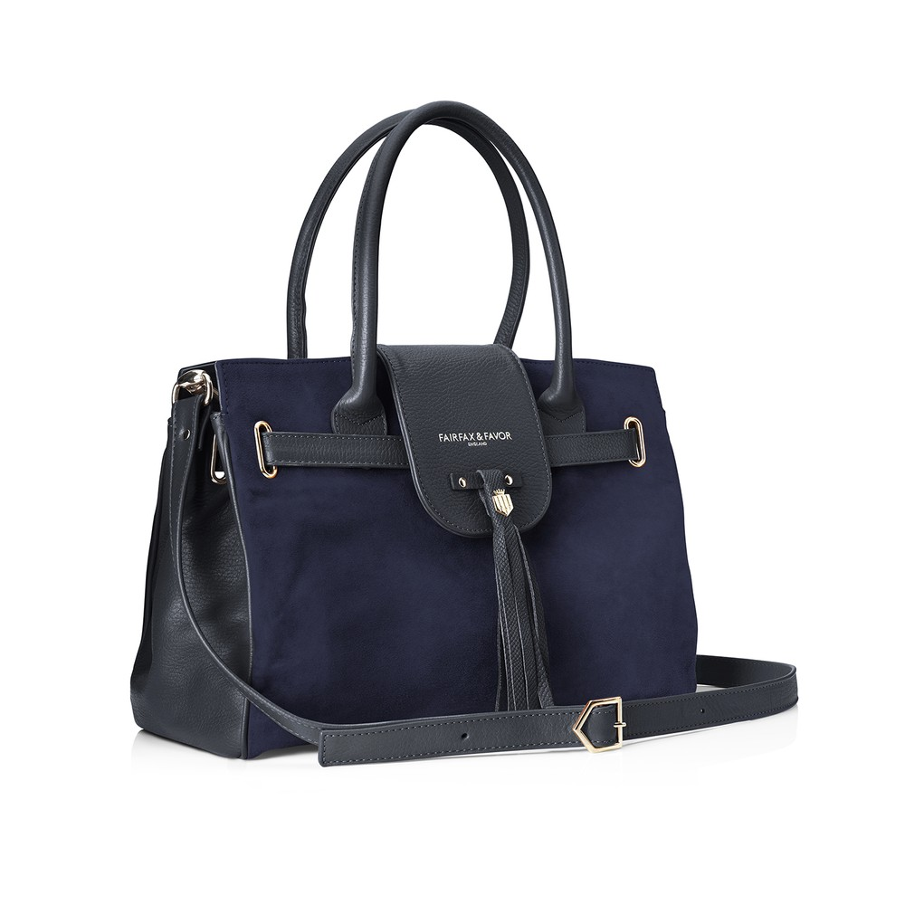 Fairfax & Favor Windsor Handbag - Navy Navy