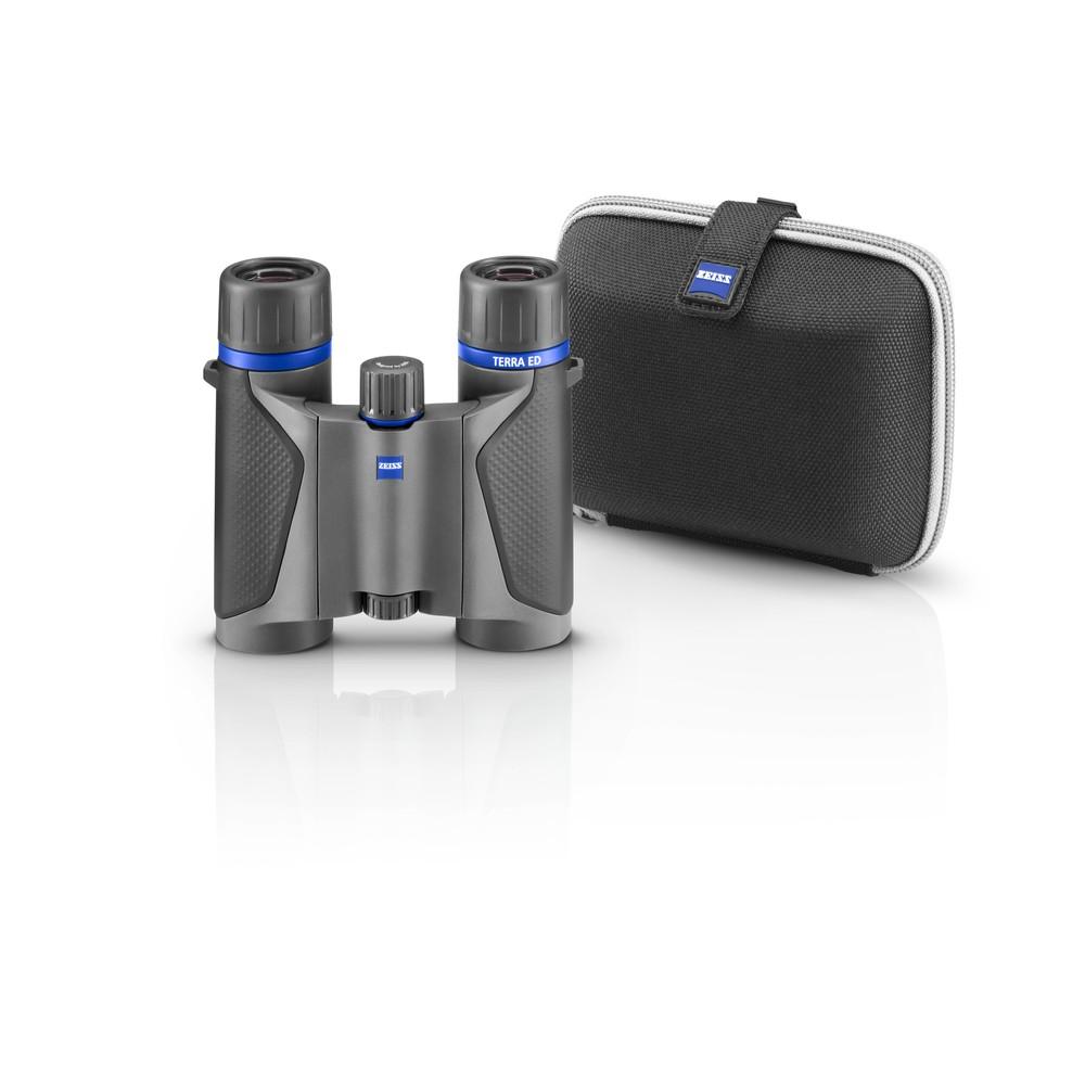 Zeiss Terra ED Pocket Binoculars - Grey/Black Grey