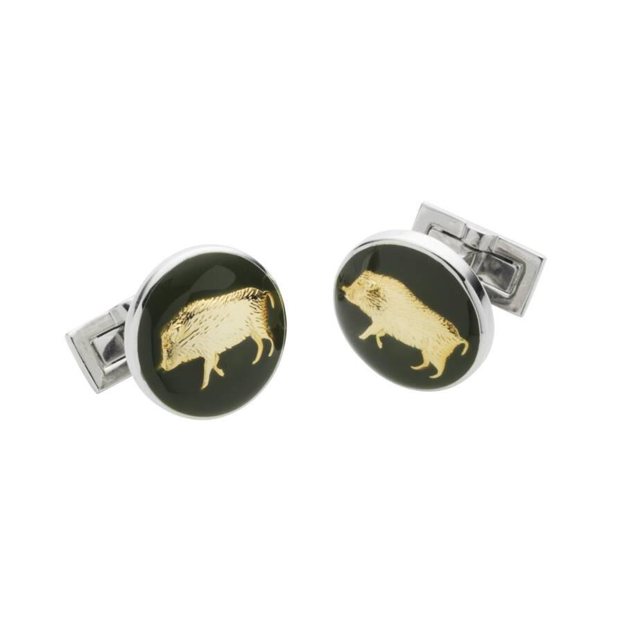 Laksen Cufflinks - Boar