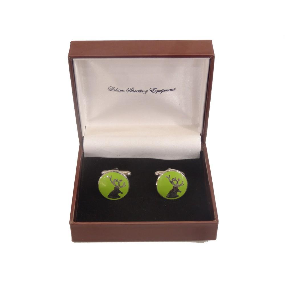 Laksen Cufflinks - Deer - Lime Lime
