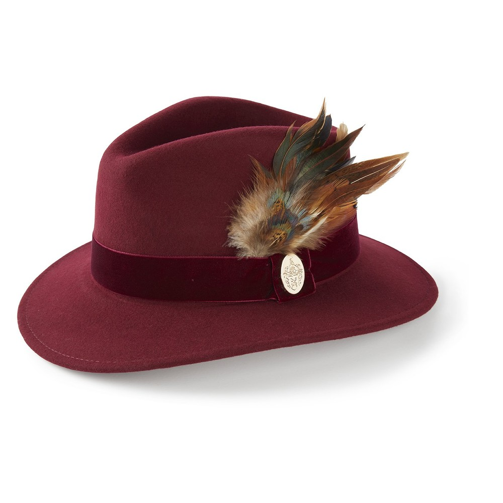 Hicks & Brown Hicks & Brown Chelsworth Fedora - Maroon