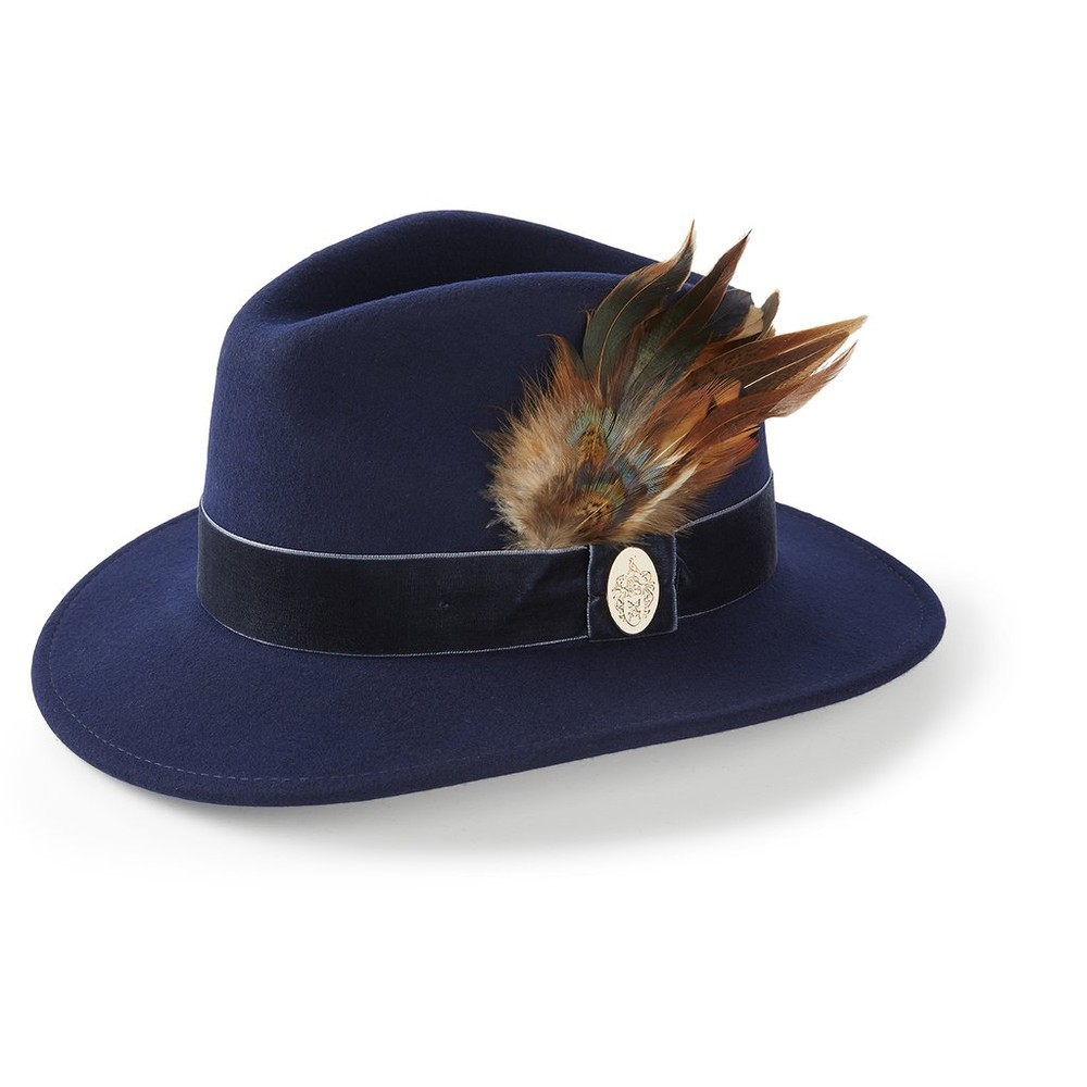 Hicks & Brown Chelsworth Fedora - Navy Navy