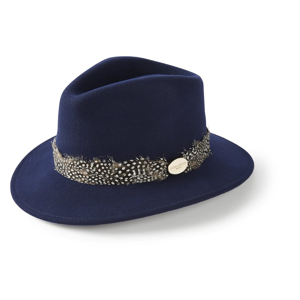 Hicks & Brown Suffolk Fedora Hat - Guinea Feather Wrap