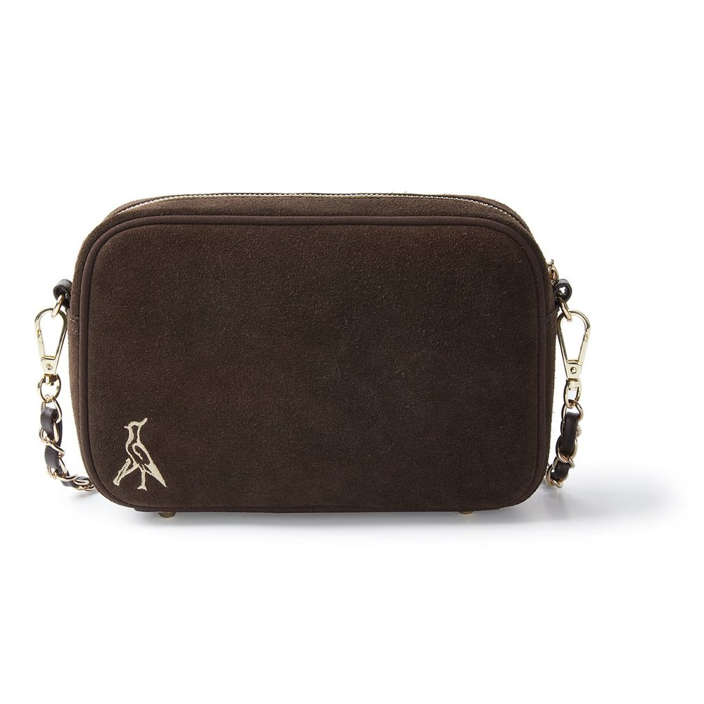 Hicks & Brown Melton Cross-Body Bag Brown