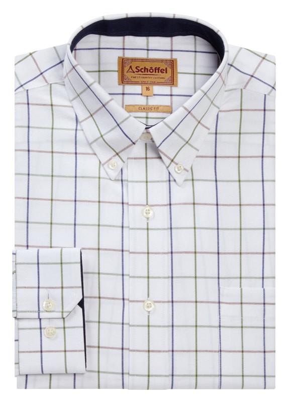 Schoffel Schoffel Brancaster Shirt - Navy/Brown/Olive