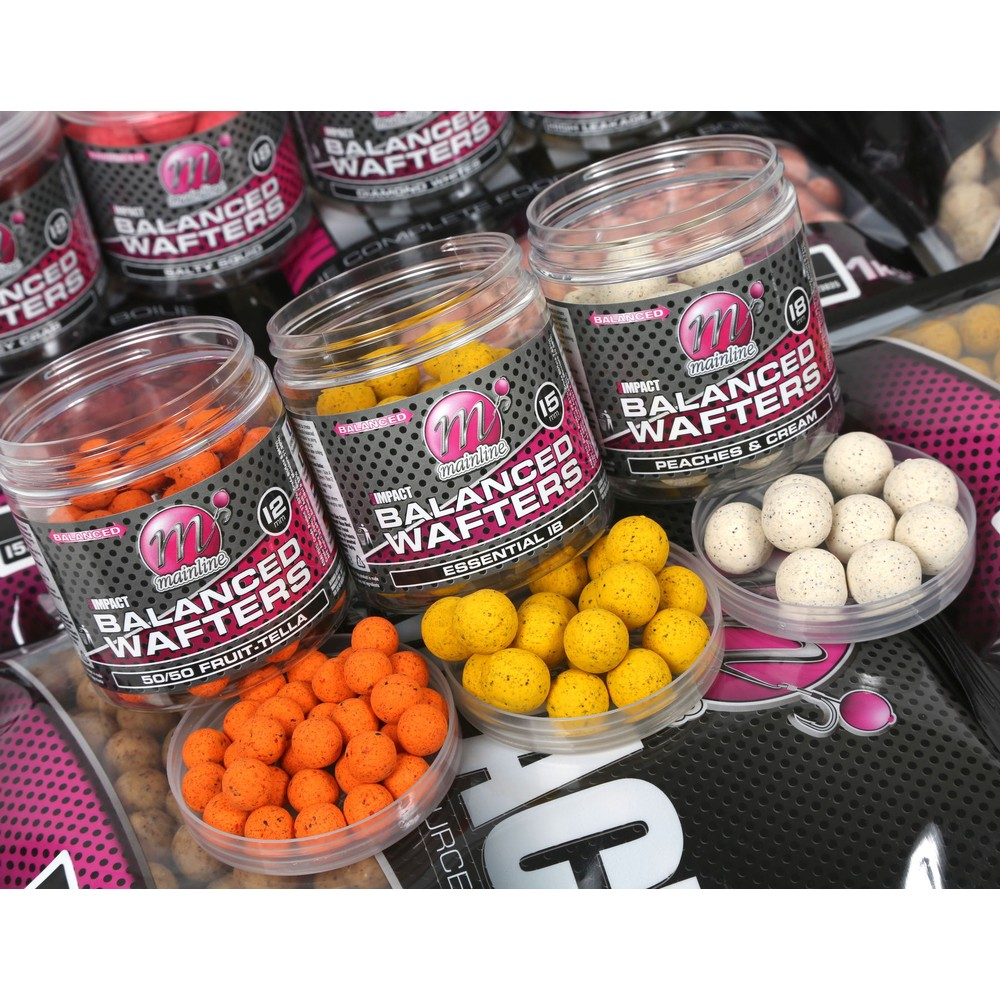Mainline Baits High Impact Balance Wafters - Peaches & Cream - 18mm