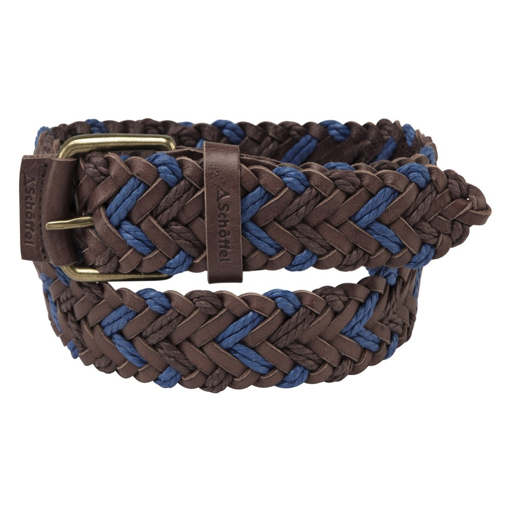 Schoffel Schoffel Woven Leather Belt - Brown/Blue