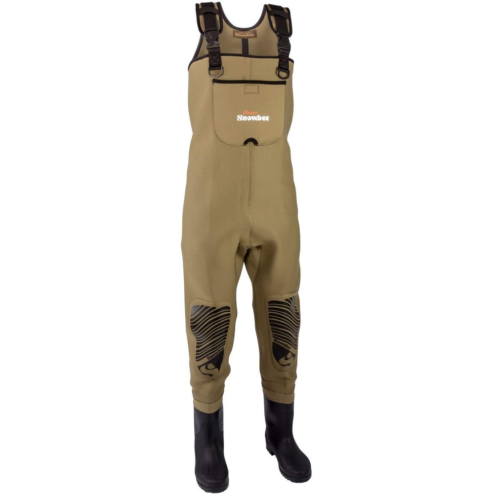Snowbee Classic Neoprene Cleated Chest Waders Green