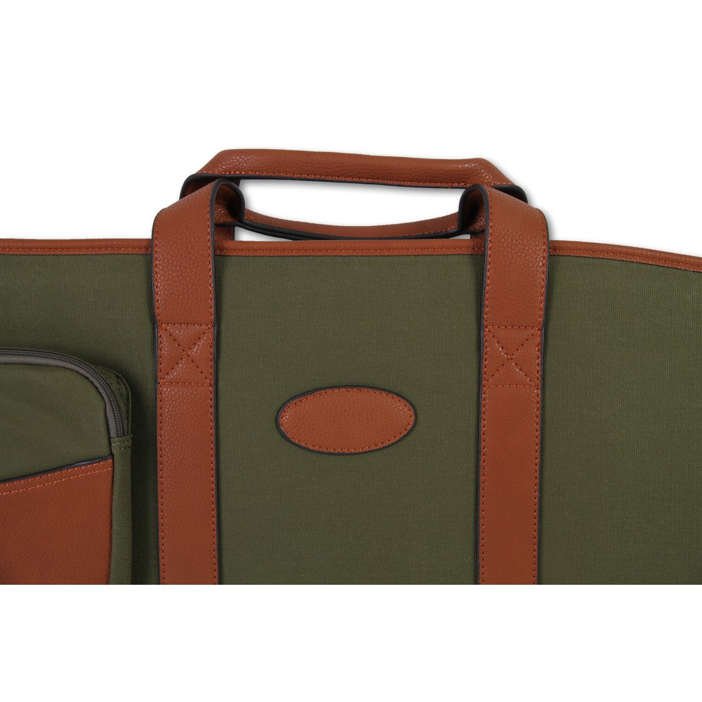Maremmano Canvas & Faux Leather Rifle Bag Green Tan