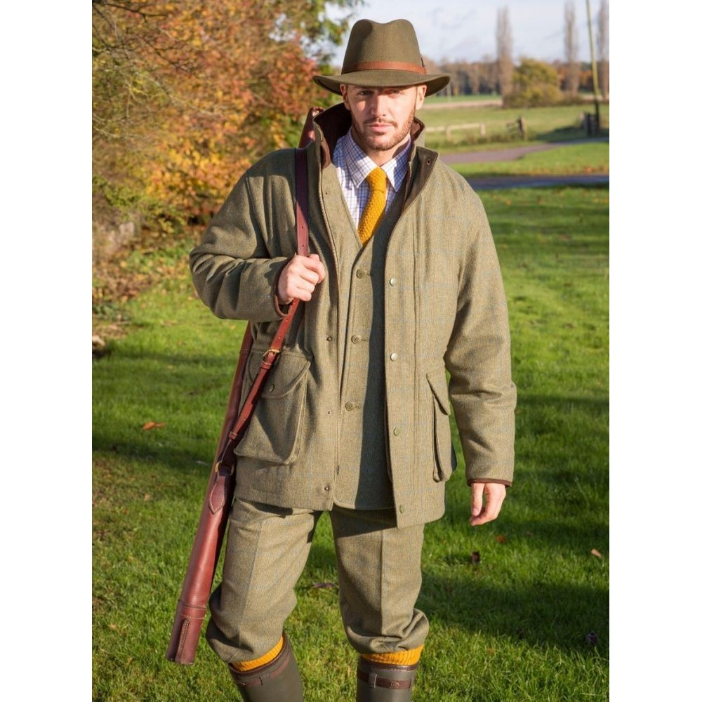 Alan Paine Combrook Tweed Breeks - Lagoon Green