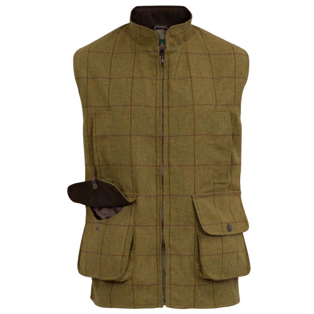 Alan Paine Alan Paine Rutland Tweed Waistcoat - Lichen
