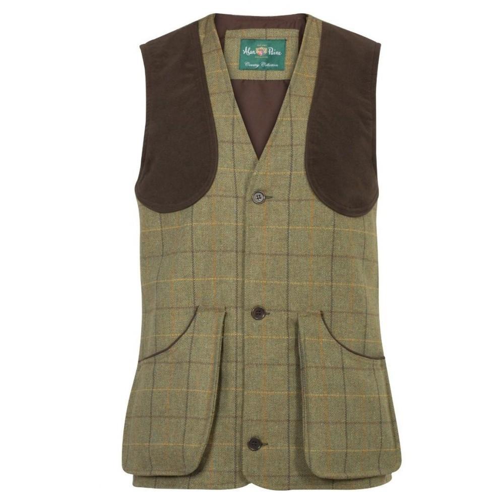 Alan Paine Alan Paine Rutland Shooting Waistcoat - Dark Moss
