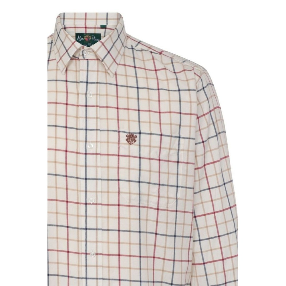 Alan Paine Ilkley Mens Shirt -  Check Wide Red