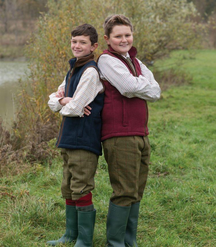Alan Paine Aylsham Kids Fleece Waistcoat Navy