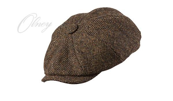 Olney Olney Urban 4 Harris Tweed 8pc Cap - Brown