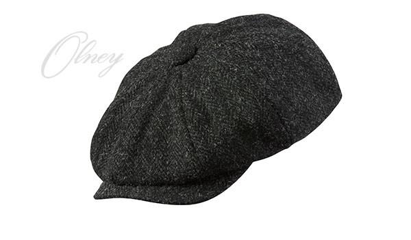Olney Olney Urban 4 Harris Tweed 8pc Cap - Charcoal