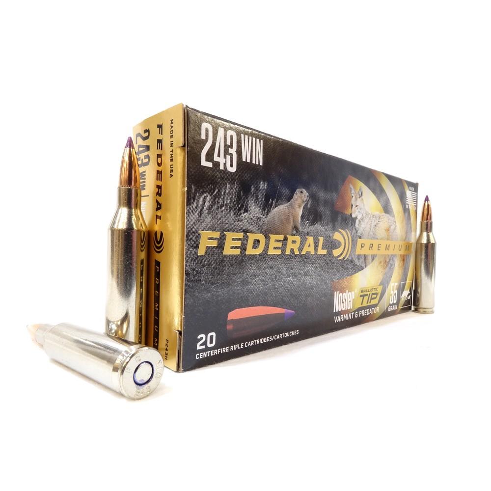 Federal .243 Ammunition - 55gr - V-Shok Nosler BT