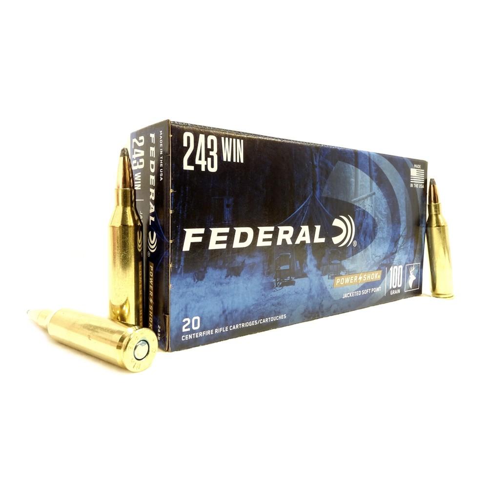 Federal .243 Ammunition - 100gr - Power-Shok Unknown