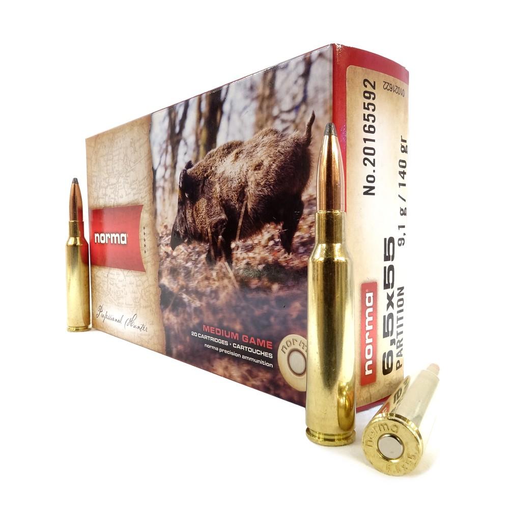 Norma 6.5x55 Ammunition - 140gr - Nosler PT Unknown