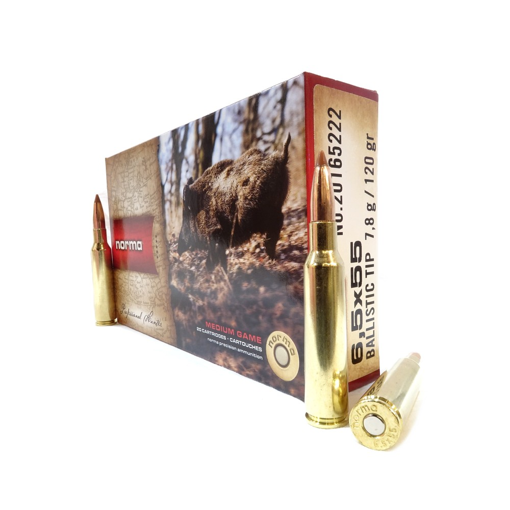 Norma 6.5x55 Ammunition - 120gr - Ballistic Tip Unknown