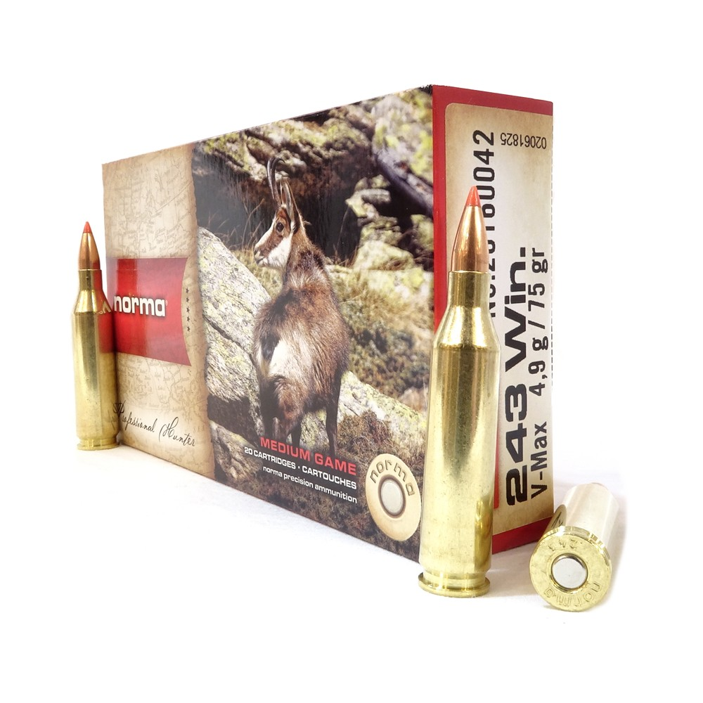 Norma .243 Ammunition - 75gr - V-Max Unknown