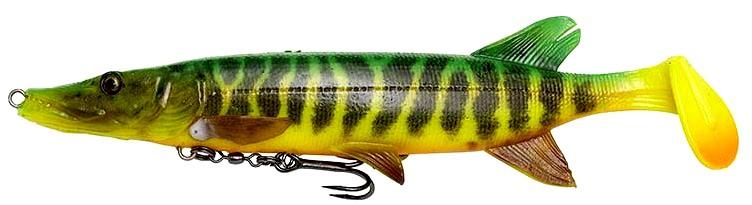 Savage Gear SG 4D Pike Shad Green & Yellow
