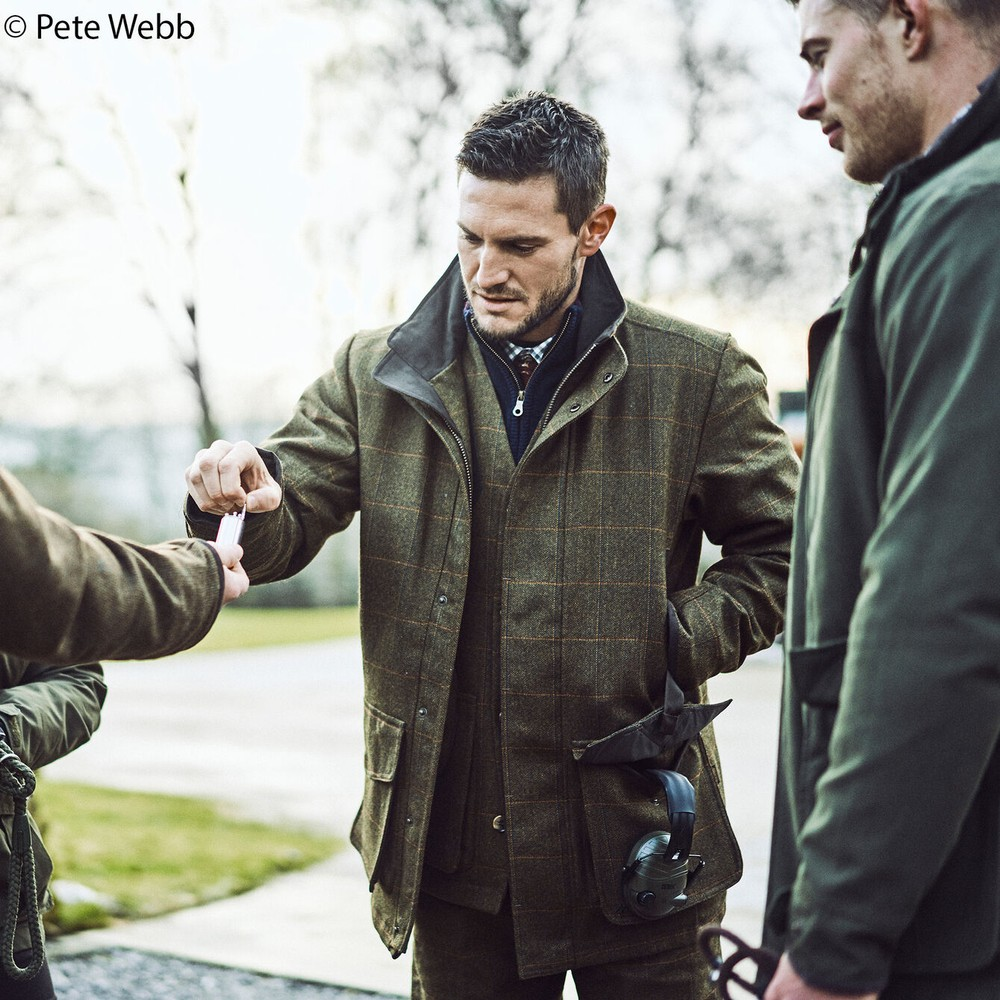 Musto Light Washable Tweed Jacket - Balmoral Green
