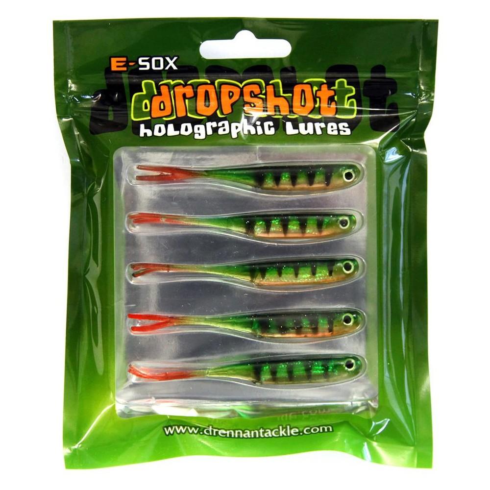 Drennan E-Sox Dropshot Lures MICRO FRY Split Tail - Green Green