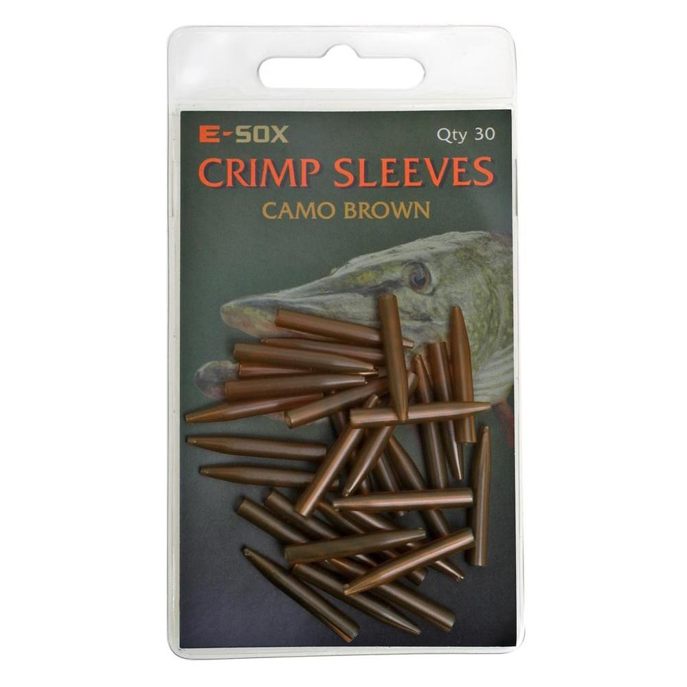 Drennan E-Sox Crimp Sleeves Brown