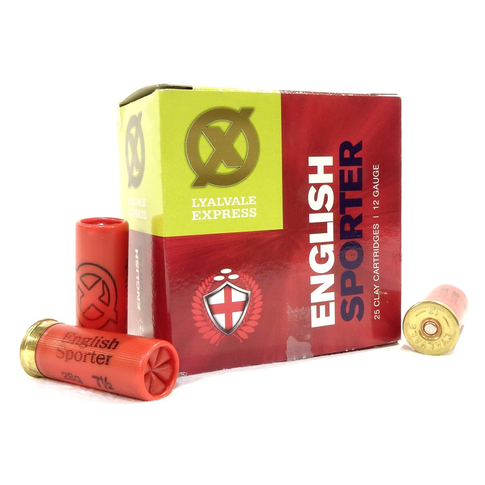 Lyalvale Express Express 12 Gauge - English Sporter Shotgun Cartridges - 28gr - 7 1/2 Shot - Plastic x25